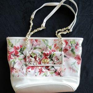 Beautiful liz Claiborne floral purse